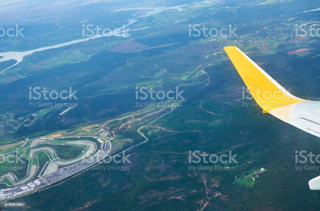 Photo Libre De Droit De Vue De La Terre De Fenêtre Avion Moulu