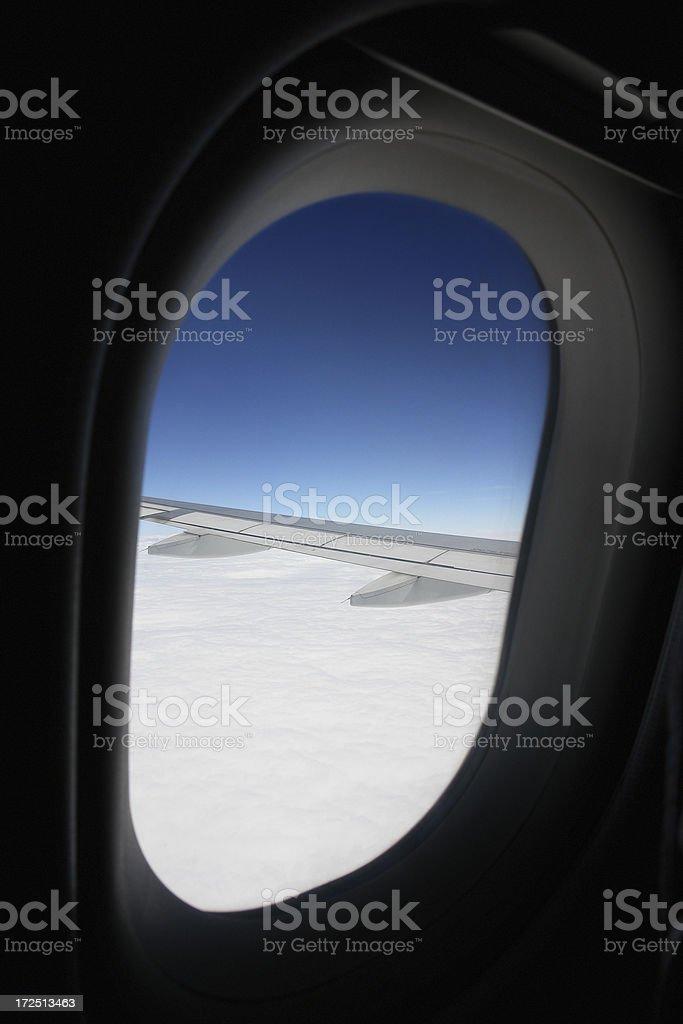 Blick aus dem Flugzeug-Fenster Lizenzfreies stock-foto