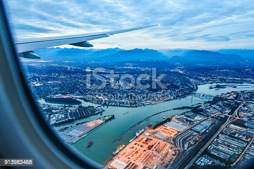 istock View from airplane window 913983468