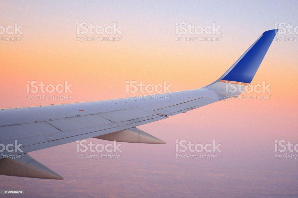 View From Airplane Window - Sunrise stock photo