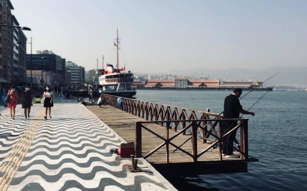 View from Alsancak district, Izmir-Turkey stock photo