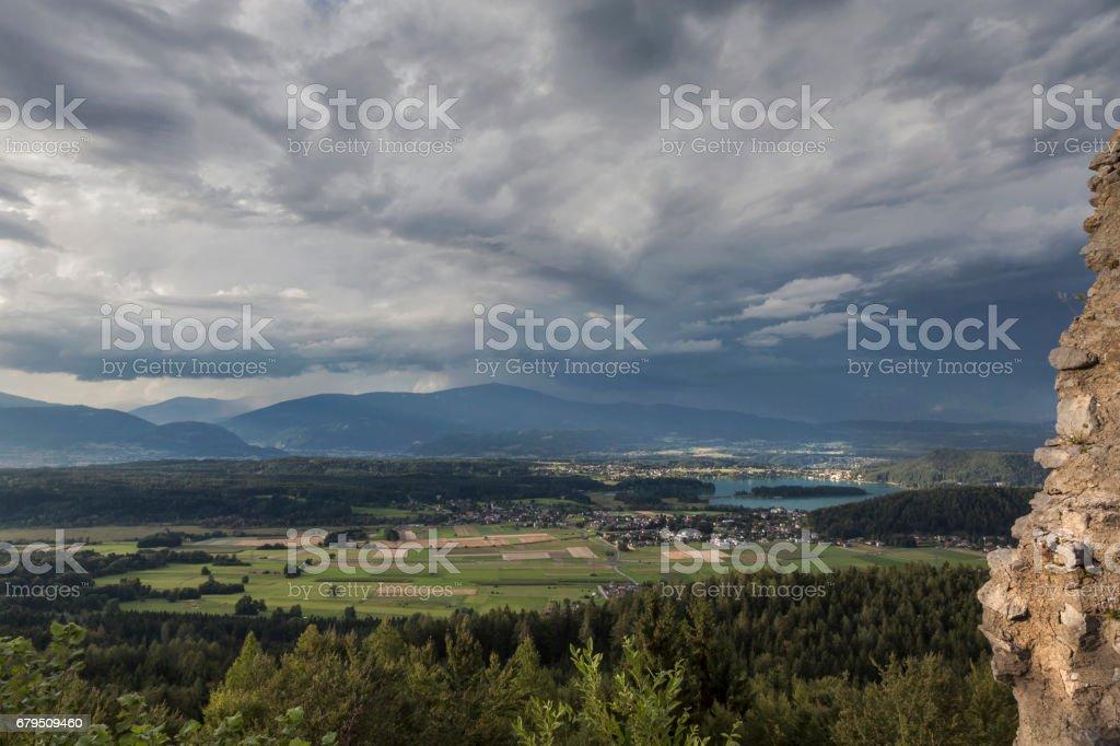 Blick von Altfinkenstein, Kaernten royalty-free stock photo
