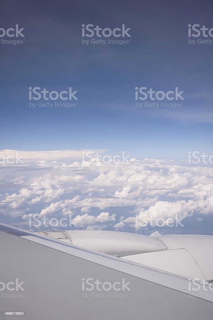 View from an Airplane royalty-free stock photo