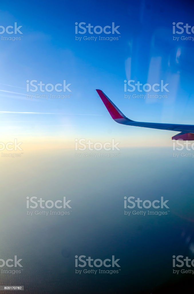 View from an airplane stock photo