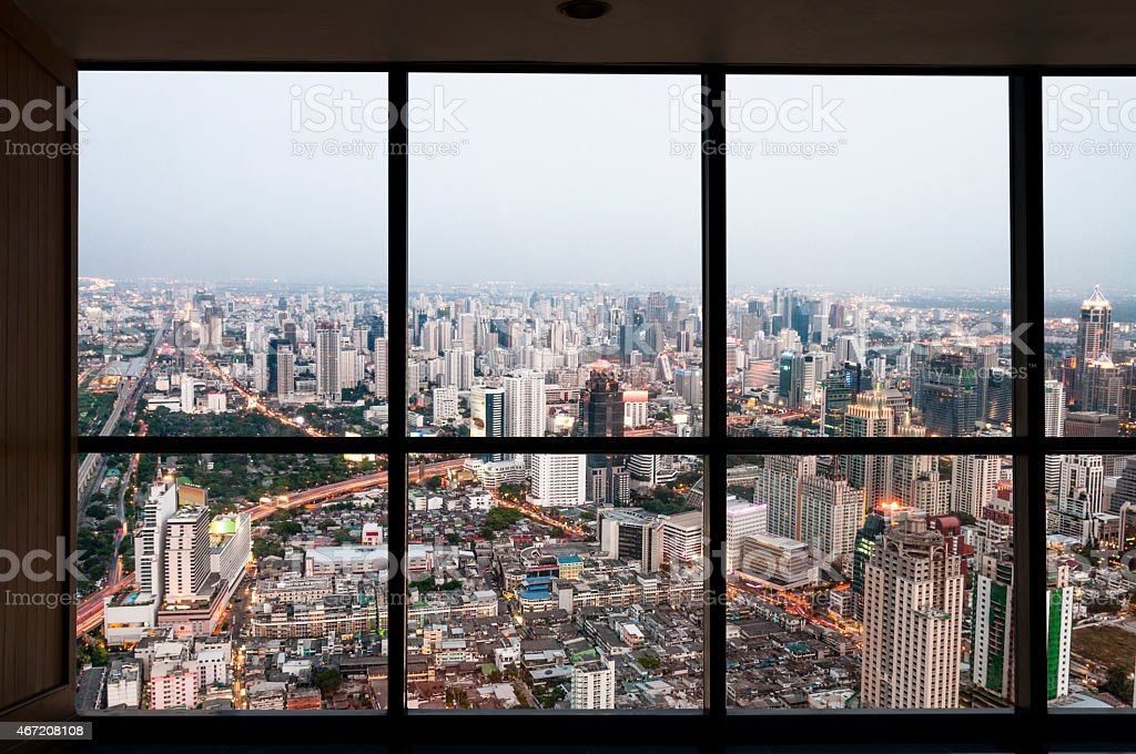 View From An Office Window In Bangkok, Thailand Royalty Free Stock Photo