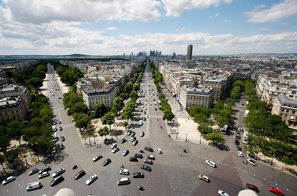 View from Arc de Triomphe stock photo