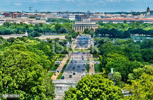 istock View from Arlington Cemetery towards the Lincoln Memorial in Washington, D.C 836785764