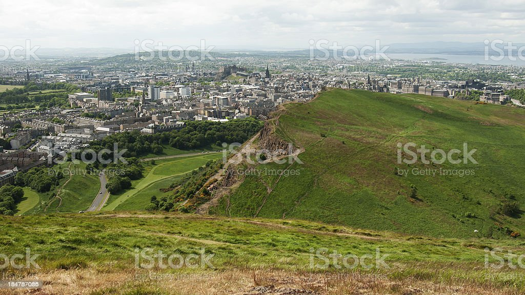 View from Arthur's Seat, Edimburgh stock photo