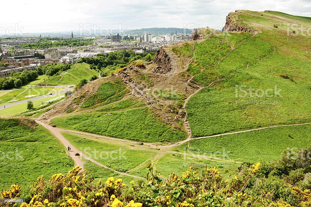 View from Arthur's Seat, Edinburgh stock photo
