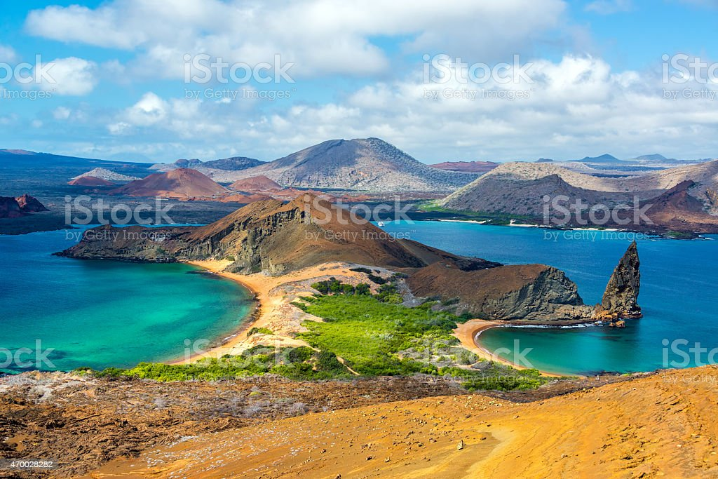 View from Bartolome Island stock photo
