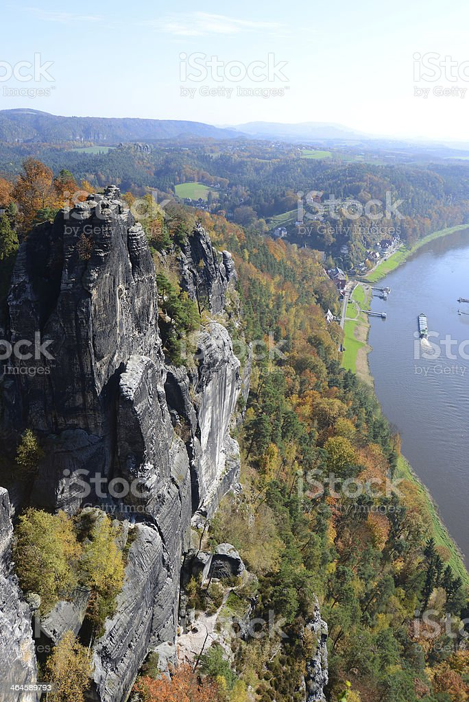 View from Bastei, Germany stock photo