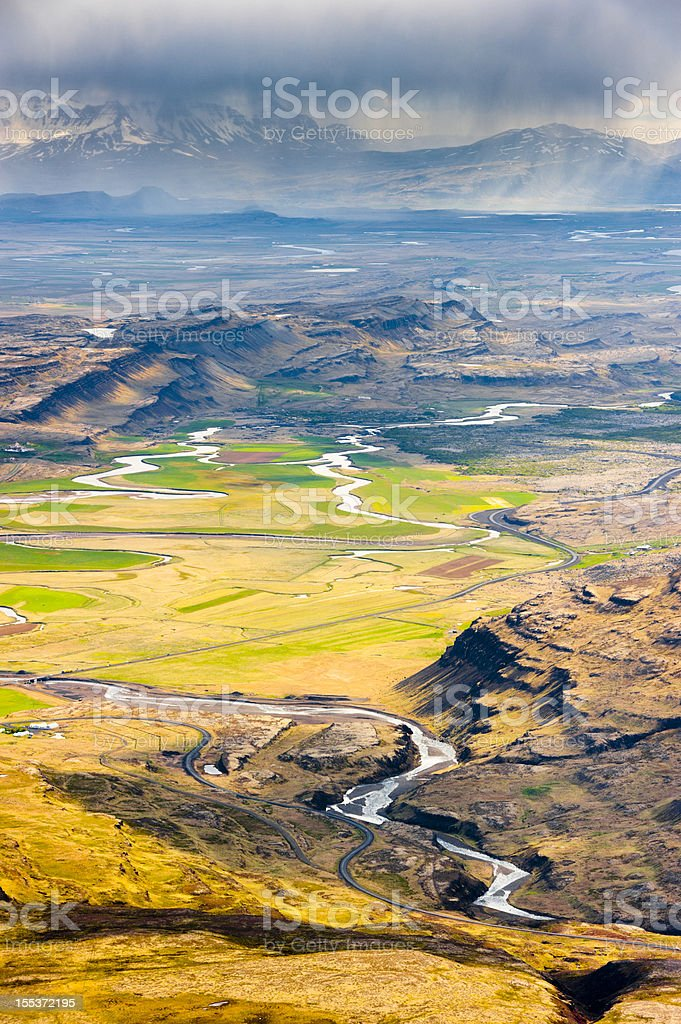 view from baula mountain, iceland royalty-free stock photo