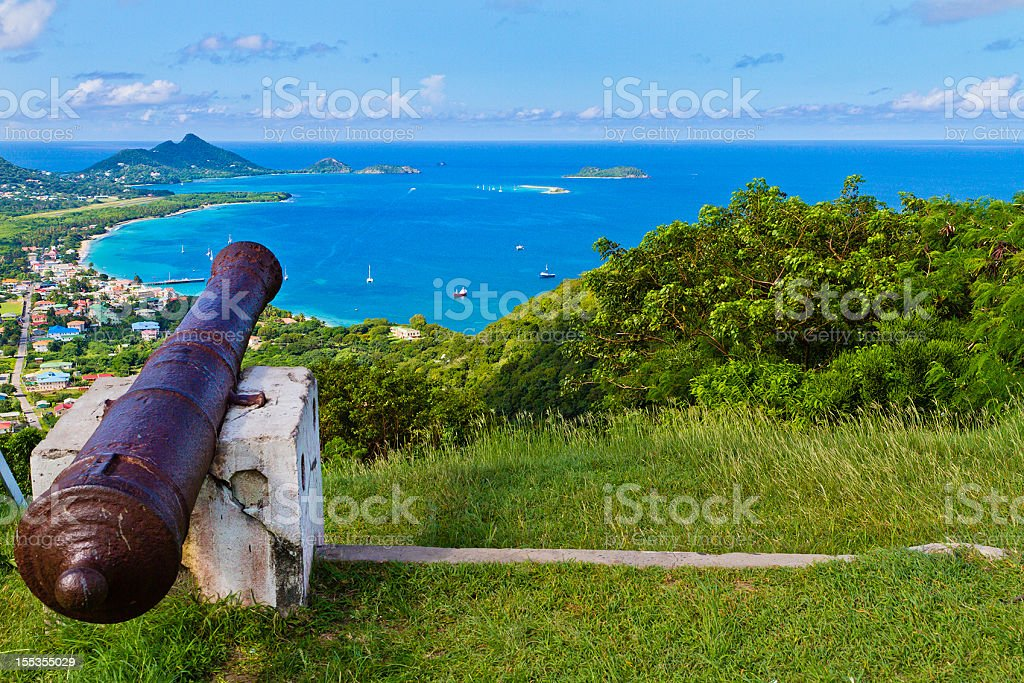 View from Belair, Carriacou stock photo
