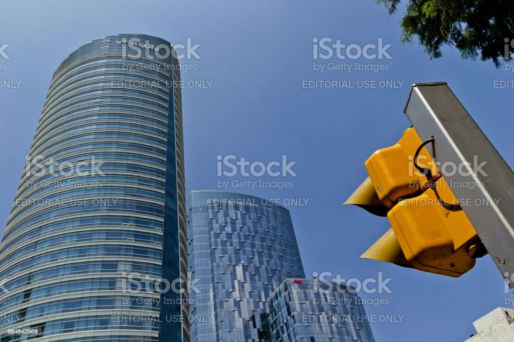 View from below of the Saint Regis Hotel at Mexico City stock photo