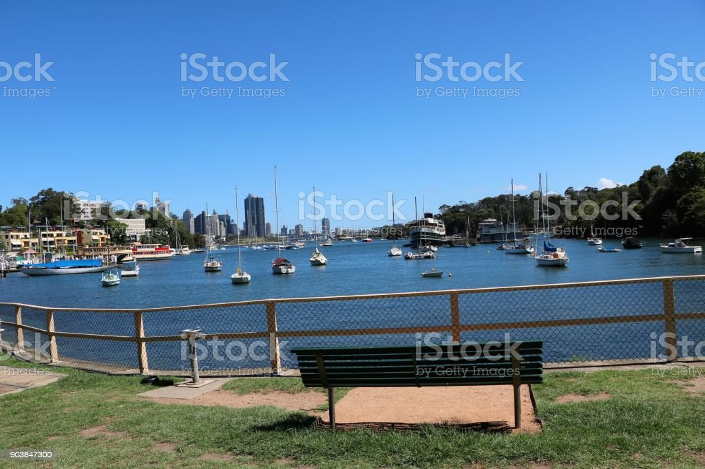 View from Berrys Bay in Sydney, New South Wales Australia stock photo