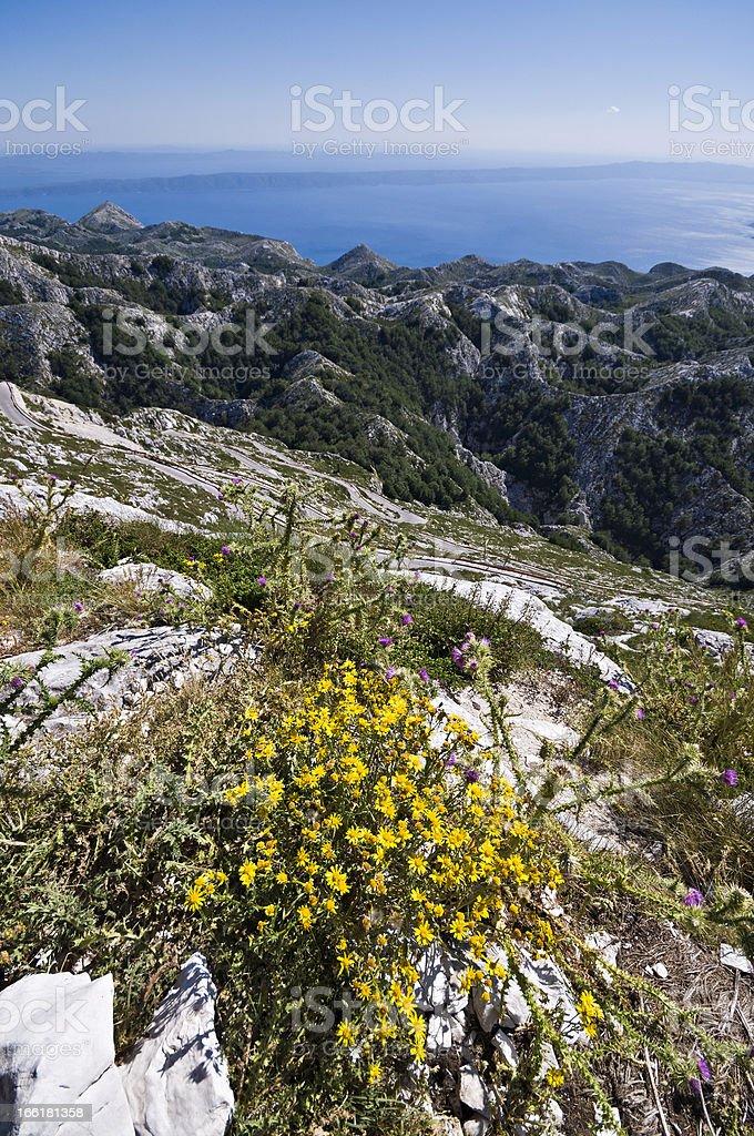 View from Biokovo royalty-free stock photo