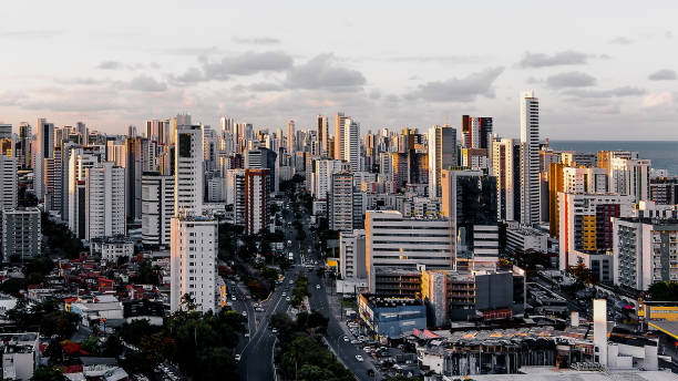 View from Boa Viagem Recife, pernambuco, Brazil desaturated stock pictures, royalty-free photos & images