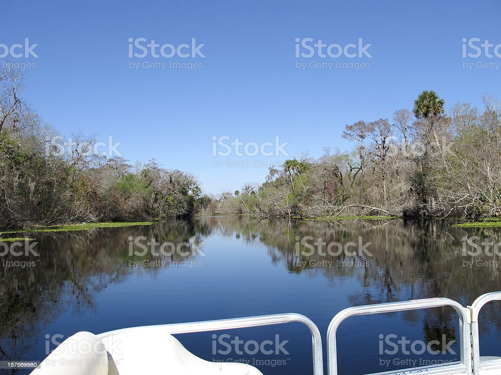 View from boat stock photo
