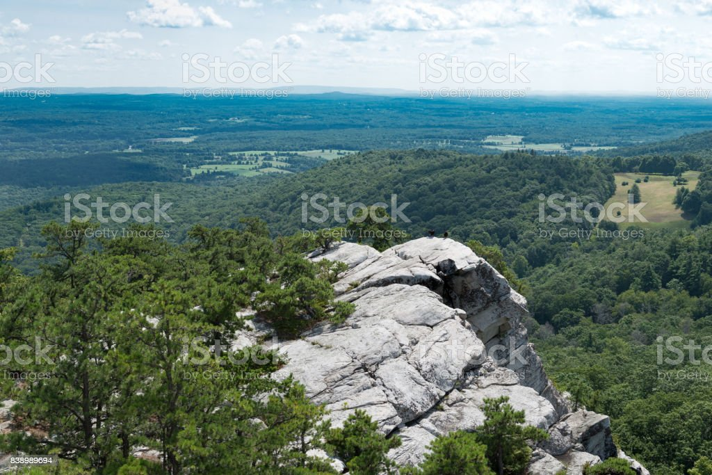 View from Bonticou Crag, Mohonk Preserve New York. stock photo