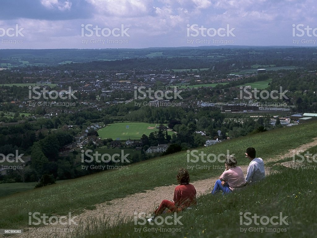 View from Box Hill. Dorking. Surrey. England royalty-free stock photo