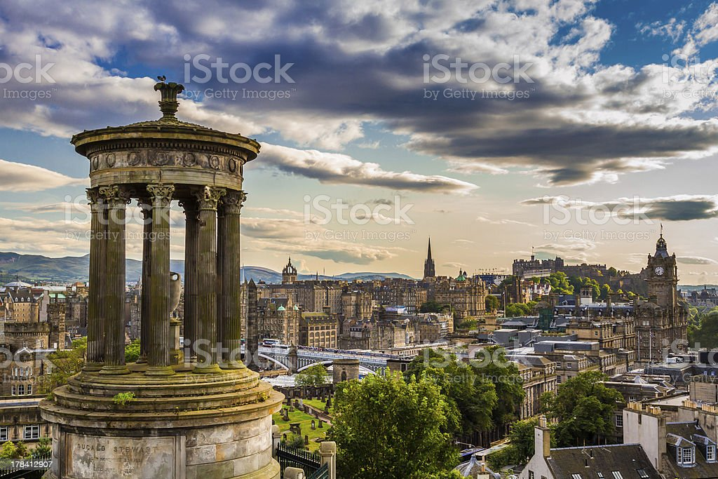 View from Calton Hill in sunny day royalty-free stock photo