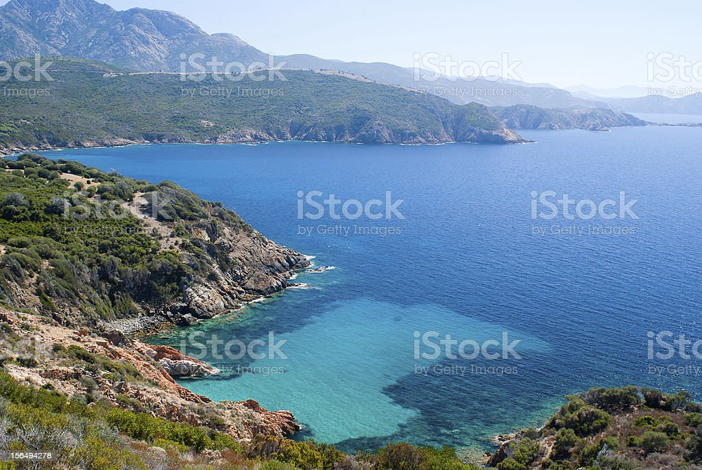 View from Capo Rosso stock photo