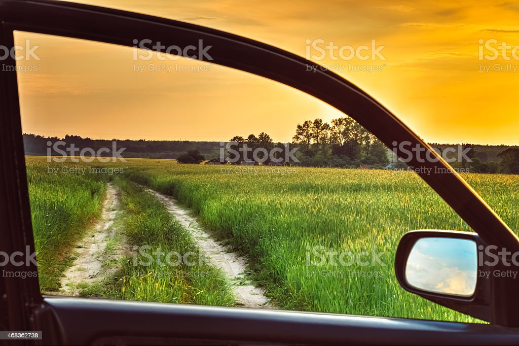 View from car window royalty-free stock photo