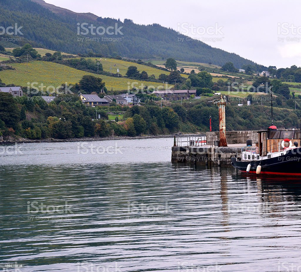 View from Carlingford Harbour stock photo