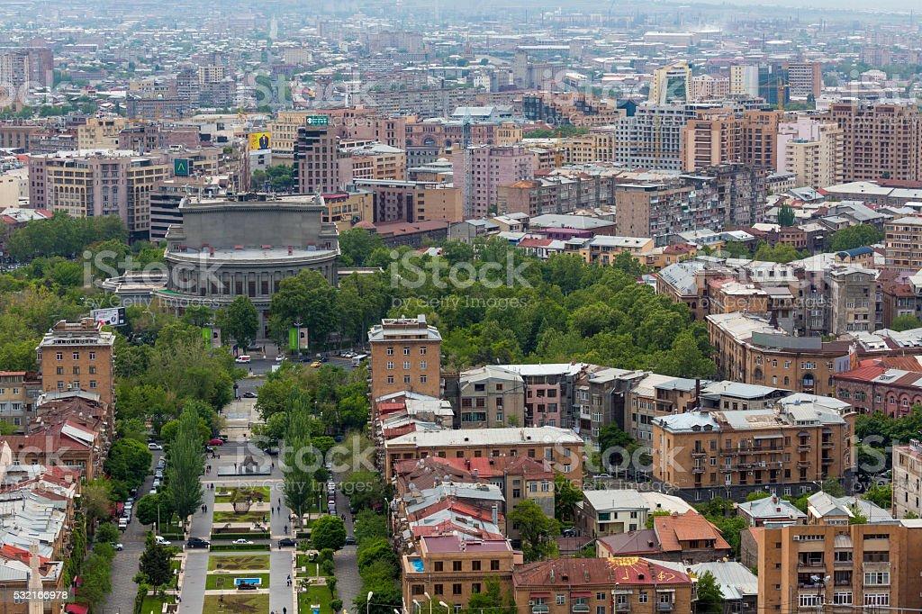 View from Cascade, Yerevan. stock photo