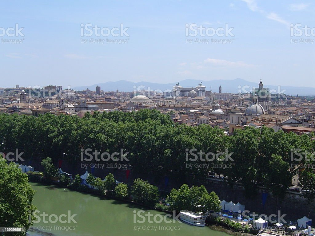 View from Castel Sant'Angelo royalty-free stock photo