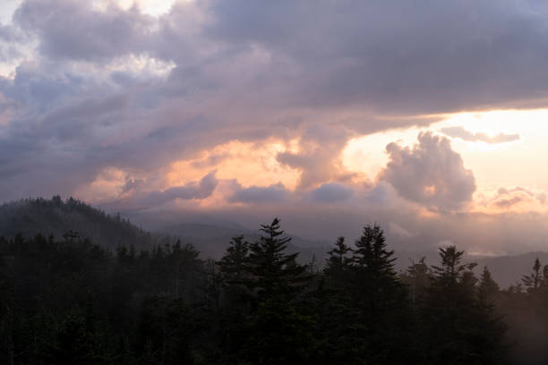 View from Clingmans Dome stock photo