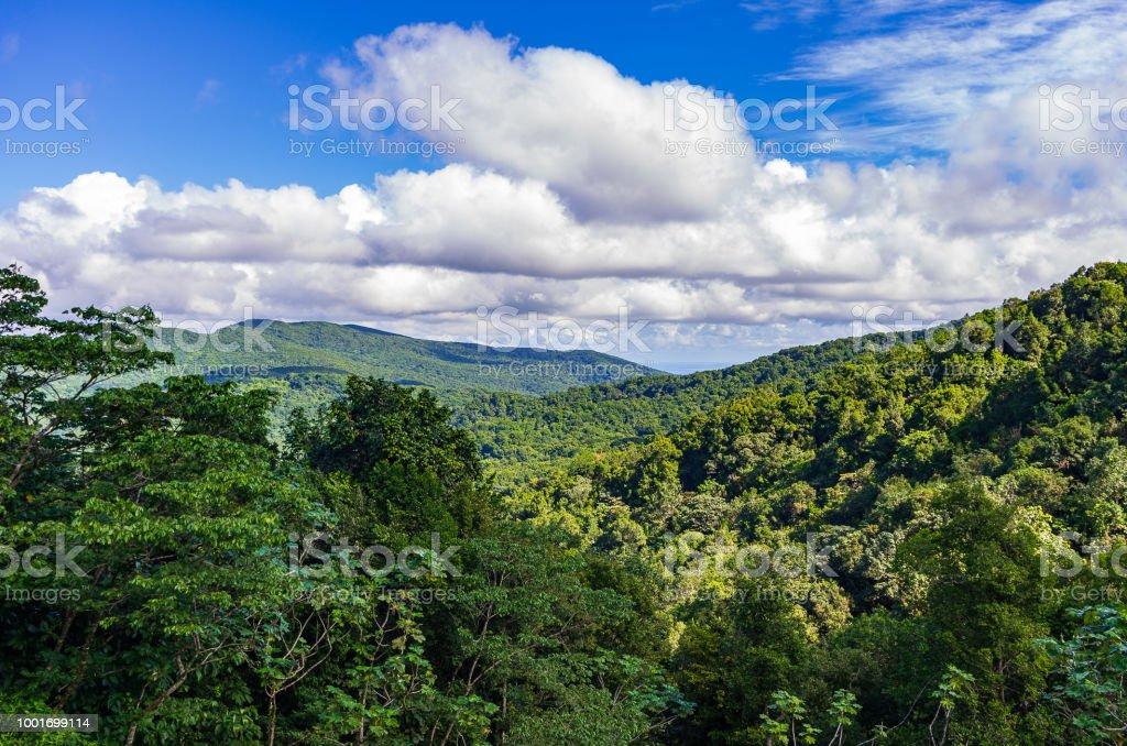 Blick vom Col des Mamelles über Basis-Terre, Guadeloupe, Karibik – Foto
