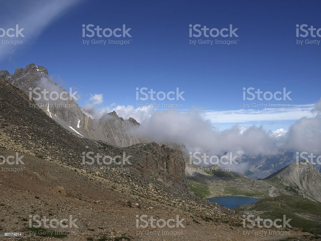 Blick vom Col Girardine zu mountain Lake St. Anne Alpen – Foto