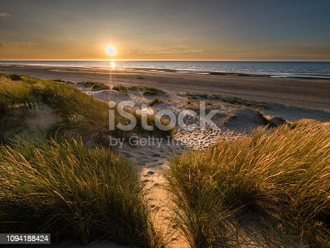 Sunset at the French North Sea
