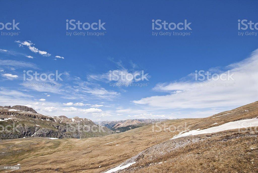 View from Columbine Lake Pass royalty-free stock photo