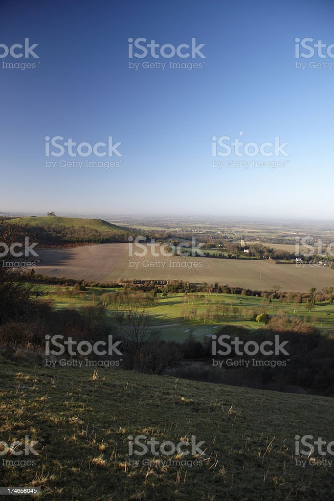 View from Coombe Hill royalty-free stock photo