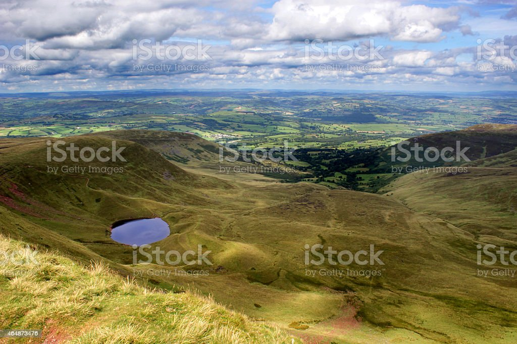 View from Corn Du in the Brecon Beacons stock photo
