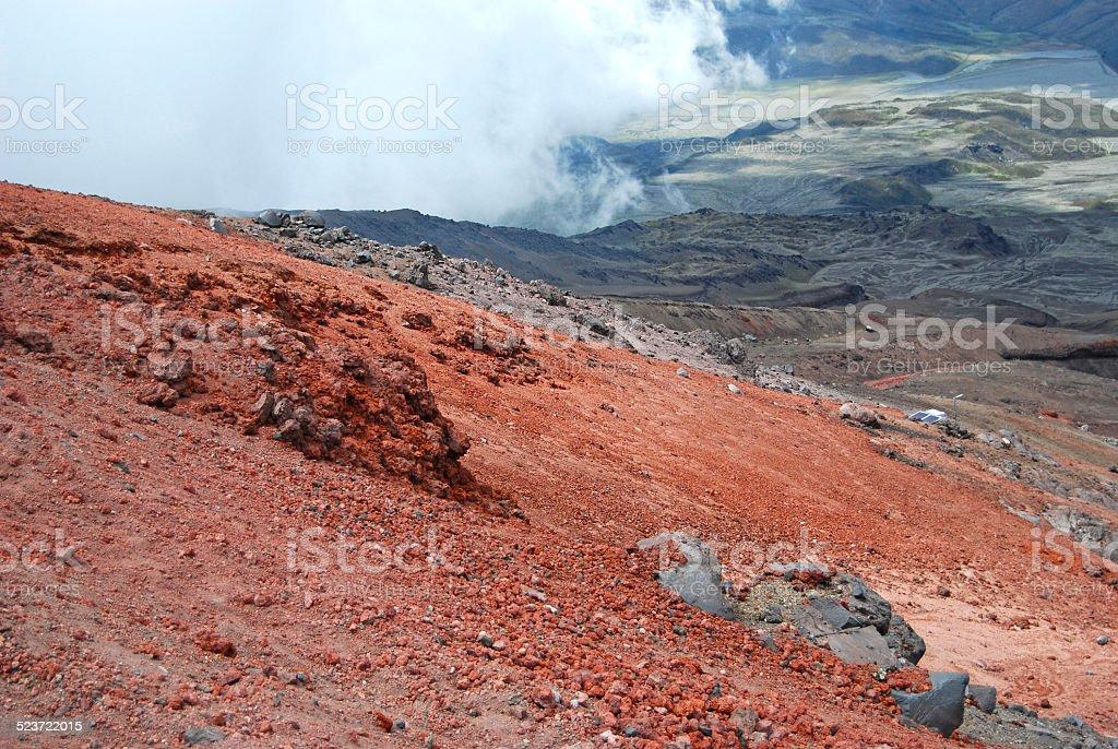 View from Cotopaxi volcano. Ecuador. stock photo