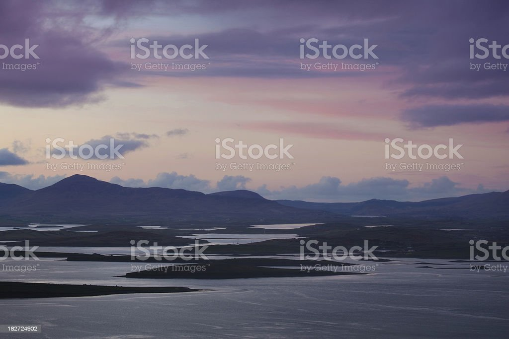 view from Crough Patrick royalty-free stock photo