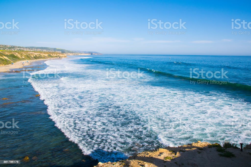 View from Crystal Cove State Park in Orange County, California stock photo