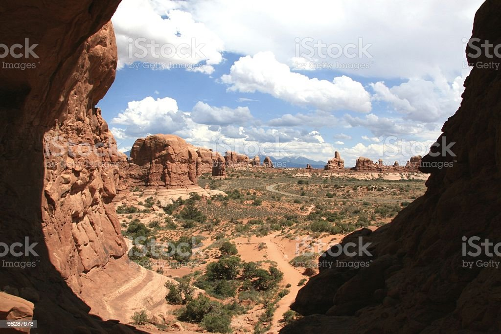 View From Double Arch, Arches National Park, Utah, USA royalty-free stock photo