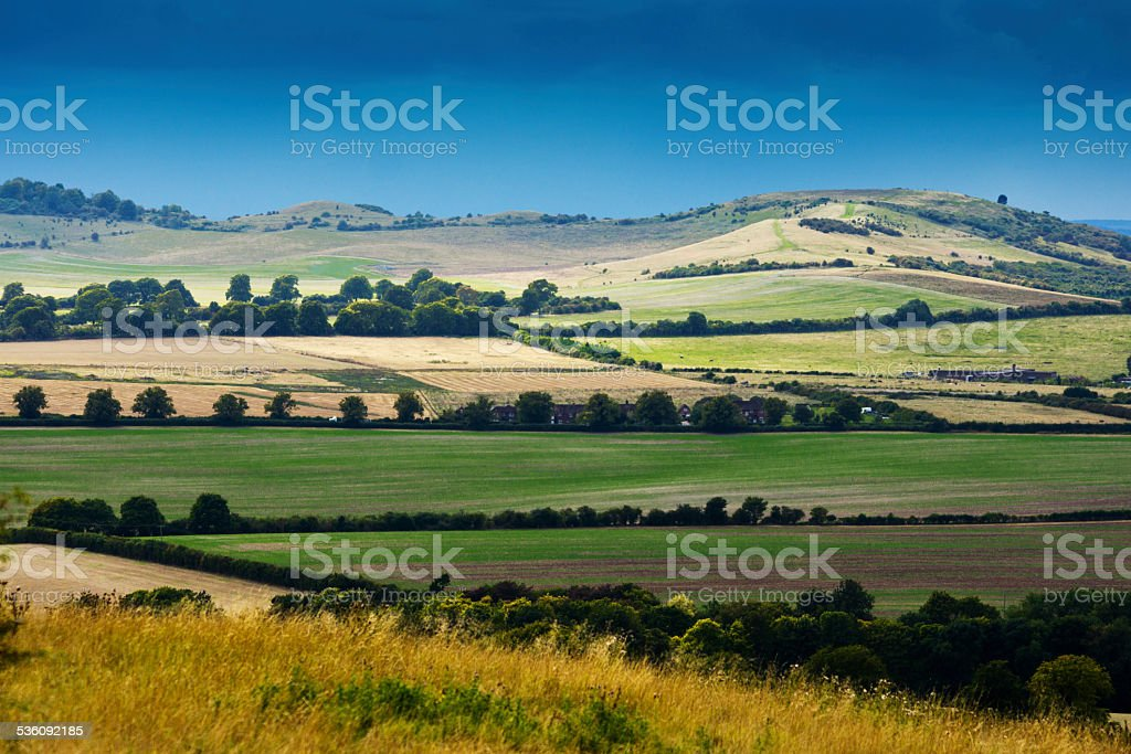View from Dunstable downs stock photo