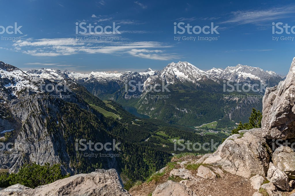 View from Eagle's Nest, Bavaria stock photo