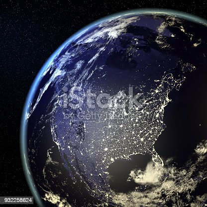 istock USA View From Earth At Night With City Lights 932258624