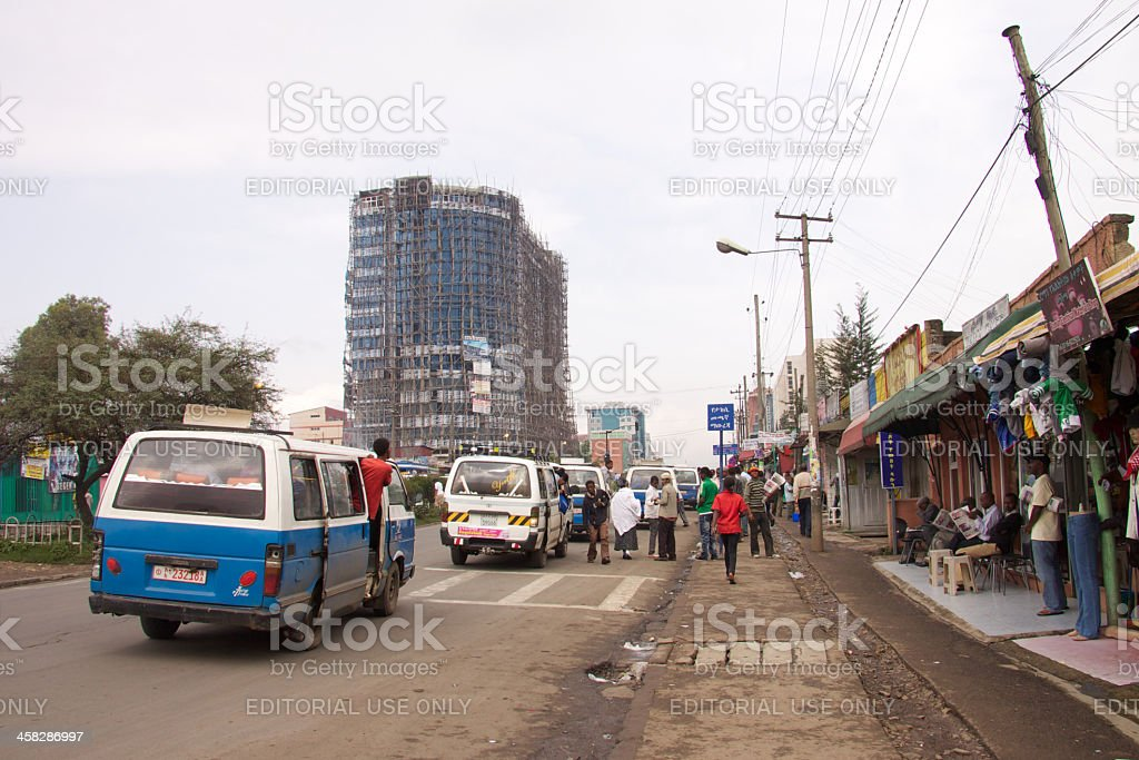 View from Equatorial Guinea Street royalty-free stock photo
