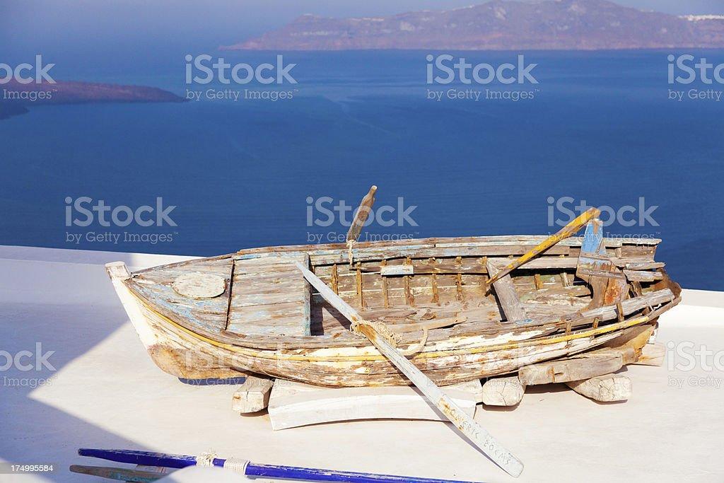View from Firostefani, Santorini royalty-free stock photo