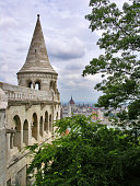 The Halászbástya or Fisherman's Bastion is one of the best known monuments in Budapest, located in the Buda Castle, in the 1st district of Budapest. It is one of the most important tourist attractions due to the unique panorama of Budapest from the Neo-Romanesque lookout terraces.