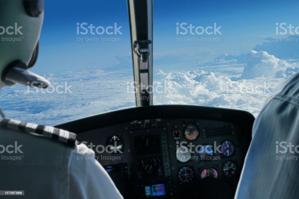 View From Flying Airplane stock photo