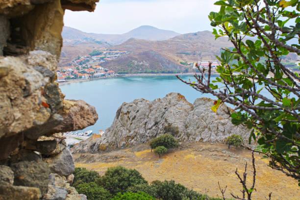 View from fortress on Myrina harbor, Lemnos island, Greece – zdjęcie