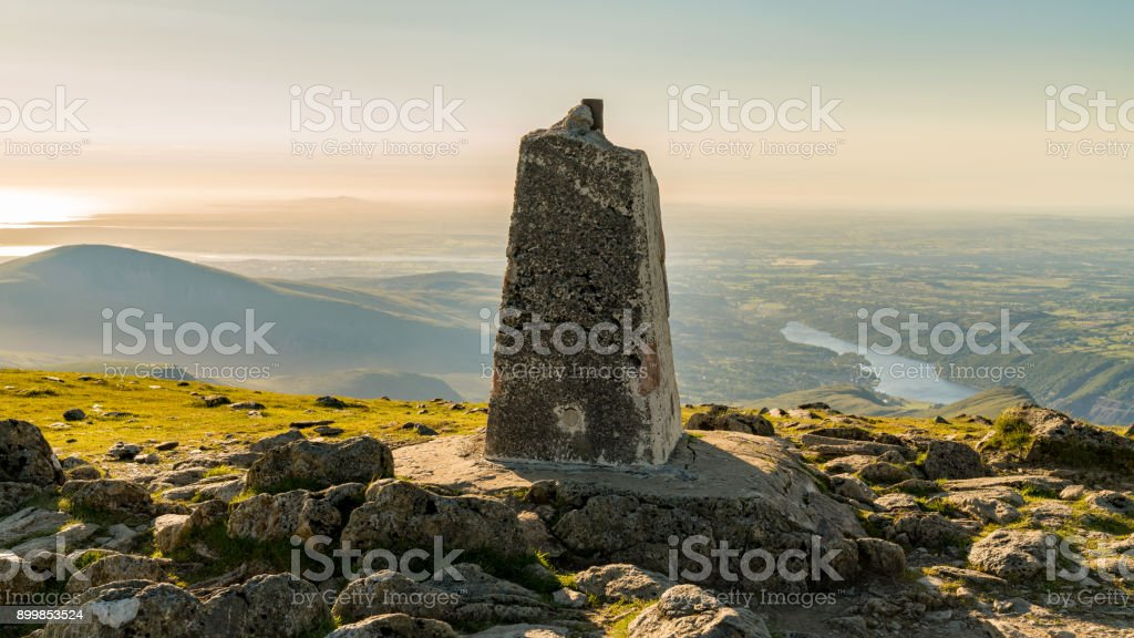 View from Garnedd Ugain, Wales, UK stock photo